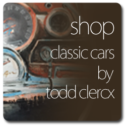 Buy Original Classic Car Paintings by the artist Todd Clercx.  Todd Clerx, fine artist and painter from Wyoming, MN is also a teacher at Roseville high school in the Minnesota Twin Cities of Minneapolis and St. Paul.